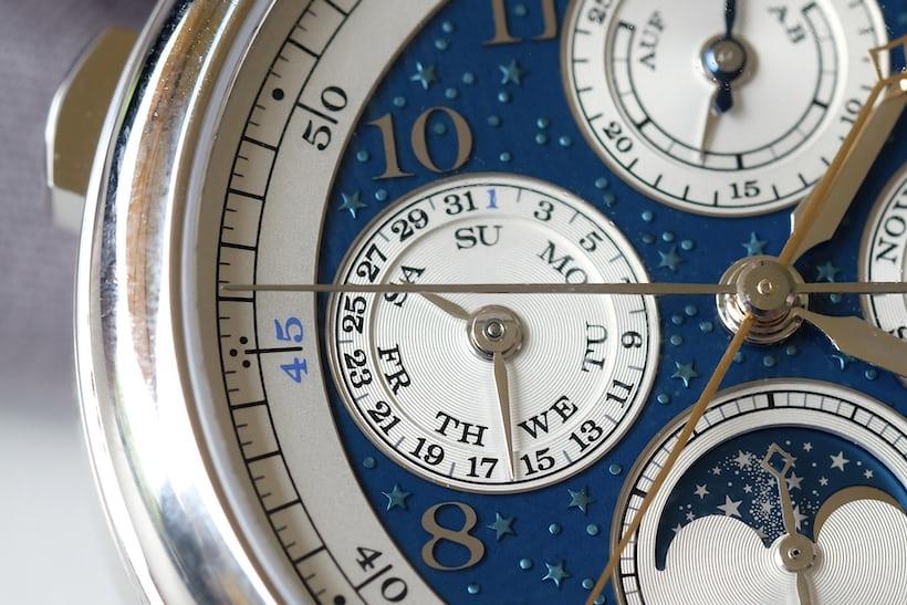 1815 Rattrapante Perpetual Calendar Handwerkskunst blue enamel dial