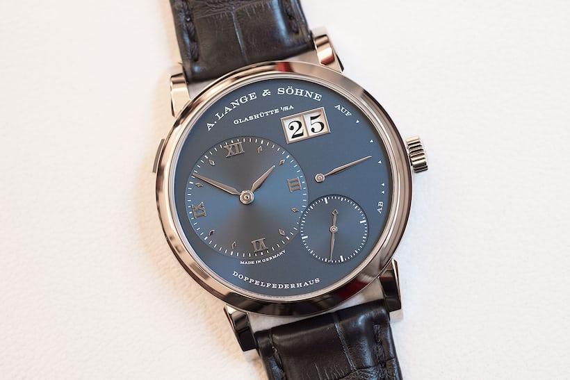 a lange sohne blue dial lange 1