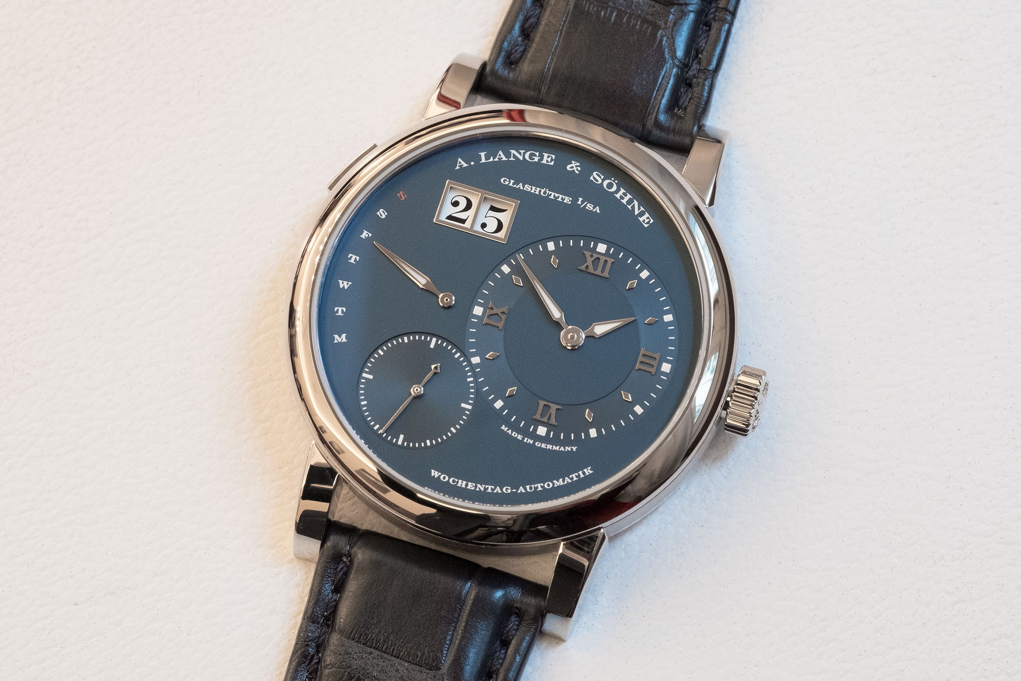 a lange sohne blue dial lange 1 daymatic introducing: four new blue dials from a. lange & shne (live pics & pricing) Introducing: Four New Blue Dials From A. Lange & Shne (Live Pics & Pricing) blue 02