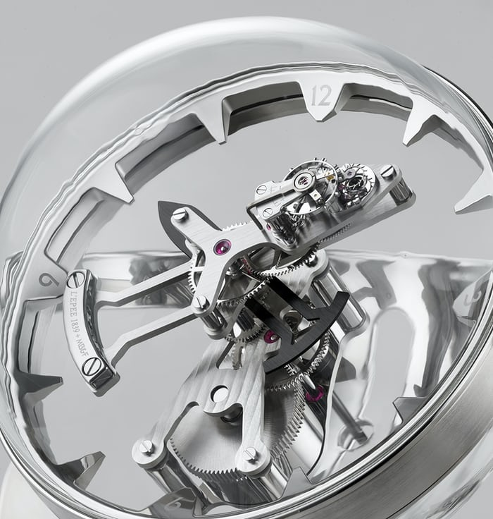 MB&F Octopod spherical polycarbonate case.