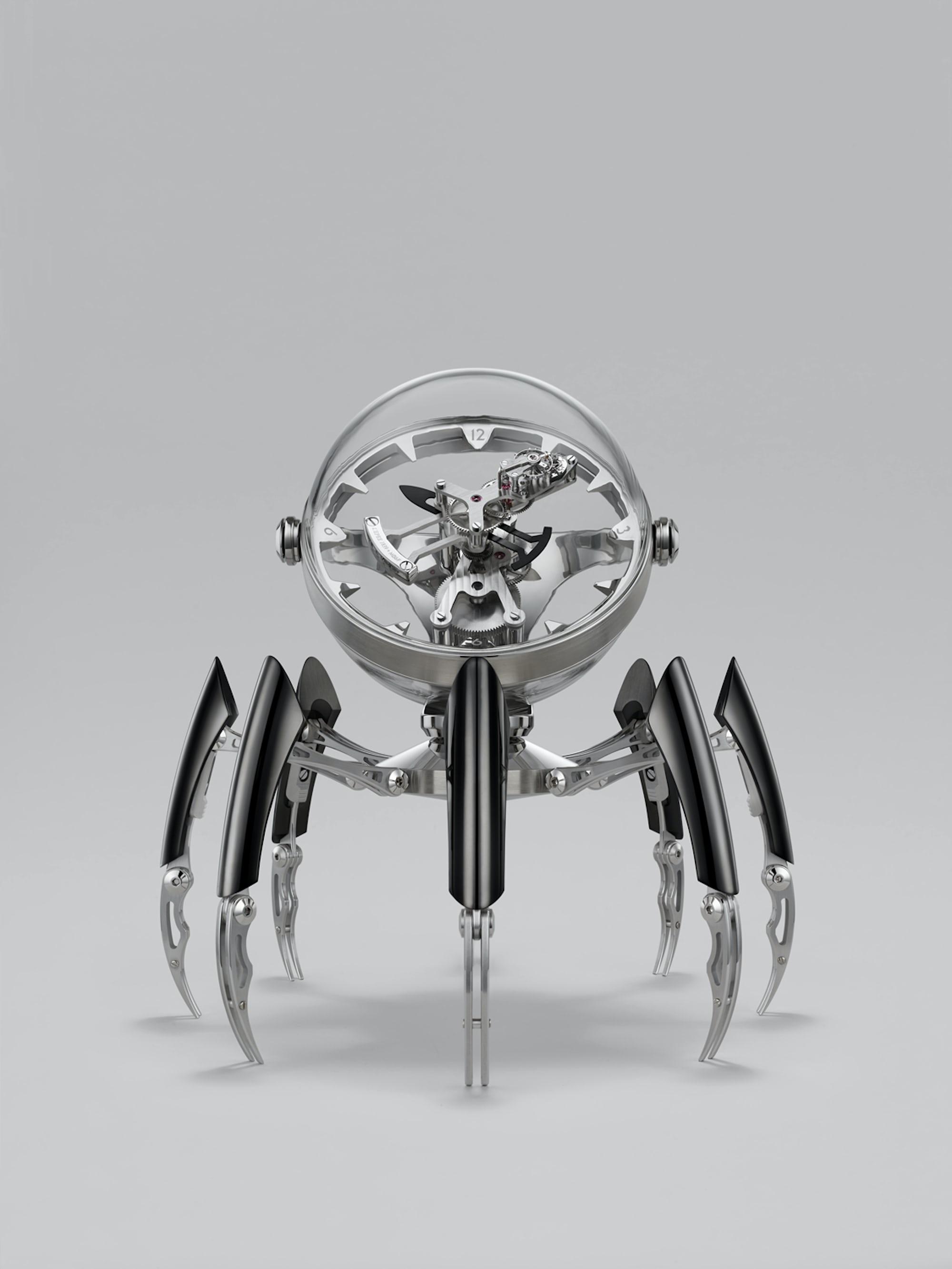 Black PVD version of the MB&F Octopod clock. Introducing: The MB&F And L'Epe 1839 Octopod Clock Introducing: The MB&F And L'Epe 1839 Octopod Clock Octopod Face Black LRES RGB