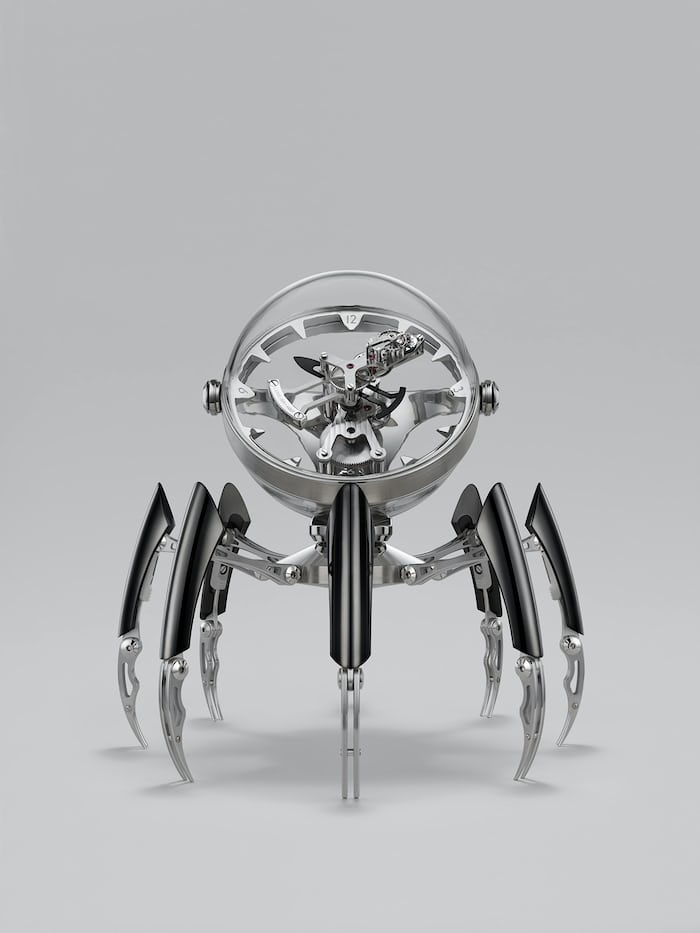 Black PVD version of the MB&F Octopod clock.