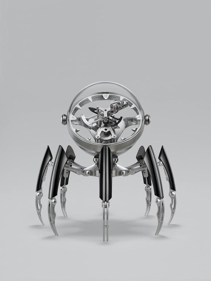 Black PVD version of the MB&F Octopod clock.