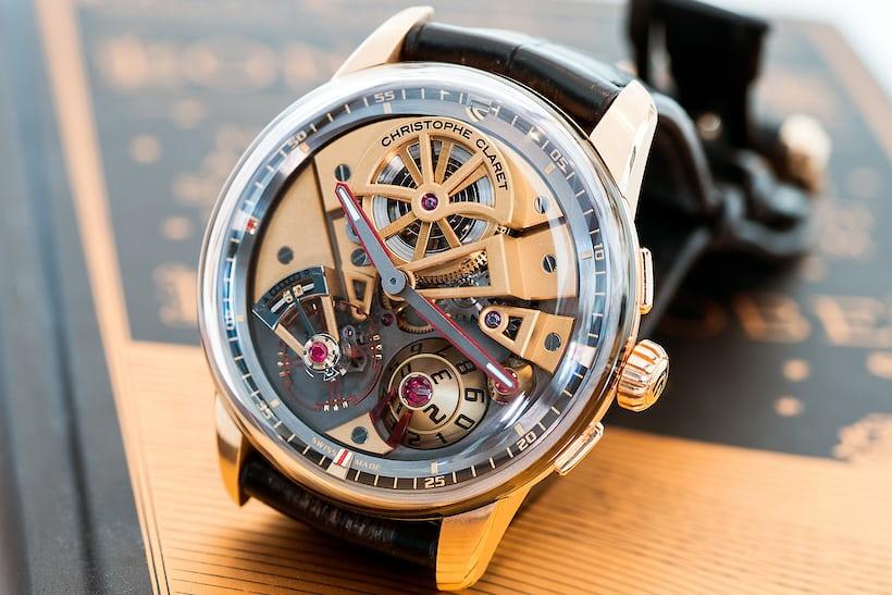 Claret Maestro wristwatch, pink gold, 2017.