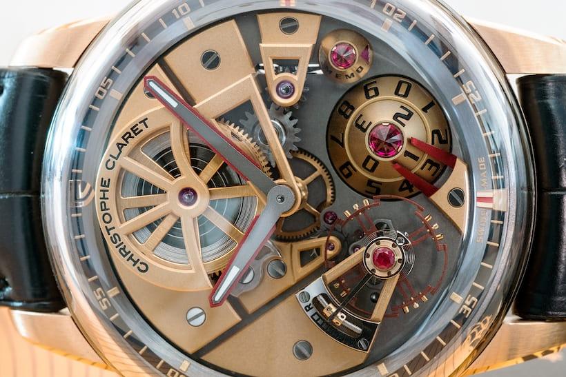 Claret Maestro dial closeup