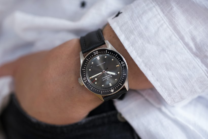 Hands On The Blancpain Fifty Fathoms Bathyscaphe 38mm Hodinkee