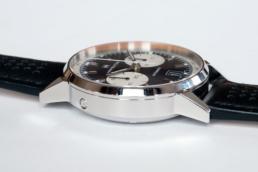 fd15eb165 At 14.7mm thick and 42mm across, the Intra-Matic 68 AutoChrono is  definitely a modern watch.