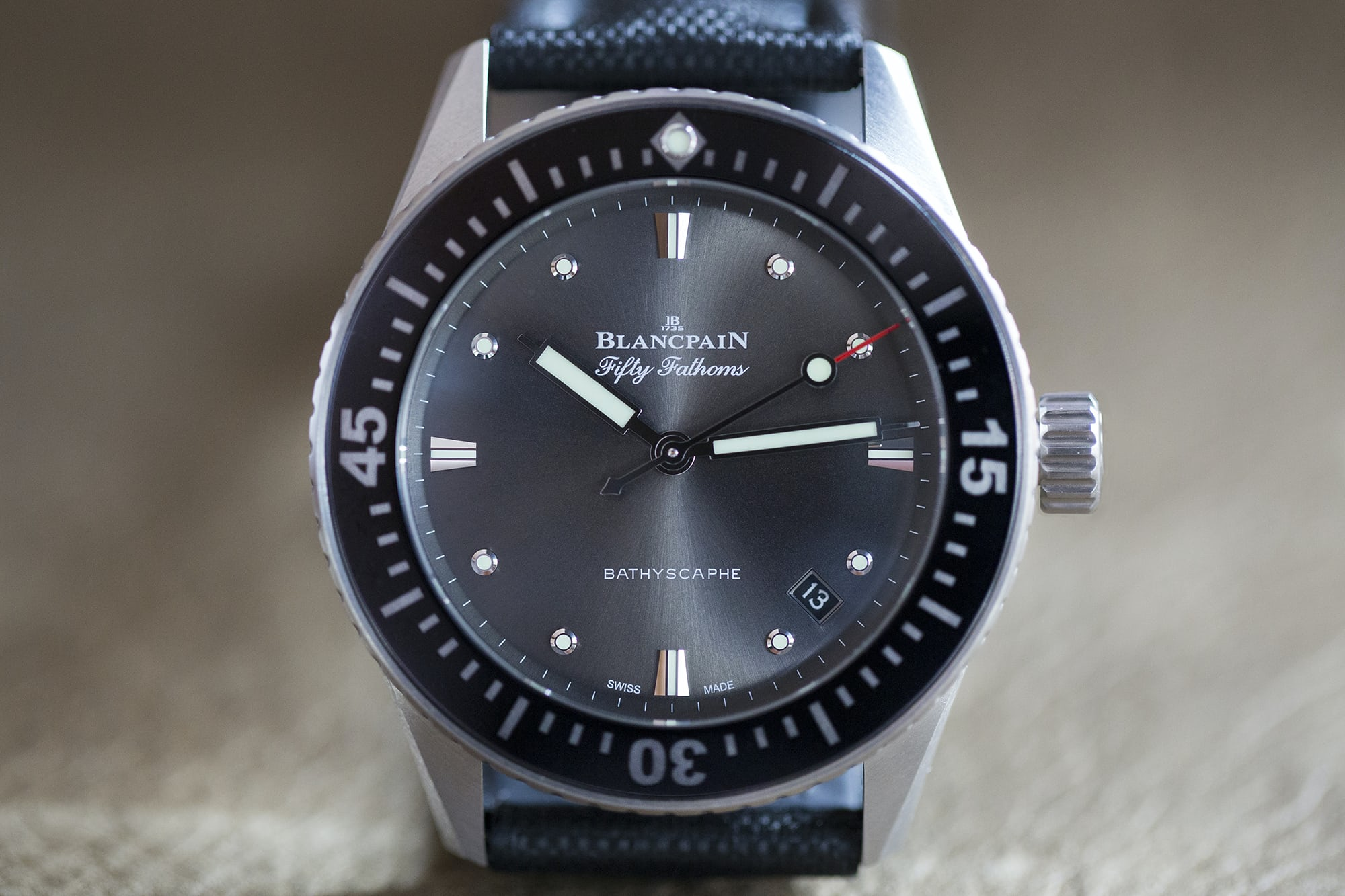 anthracite dial fifty fathoms