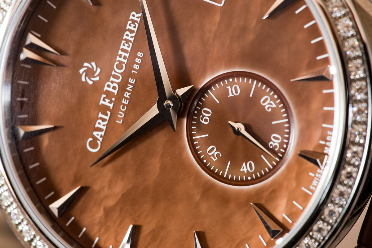 Carl F. Bucherer Manero Peripheral Ladies' dial closeup