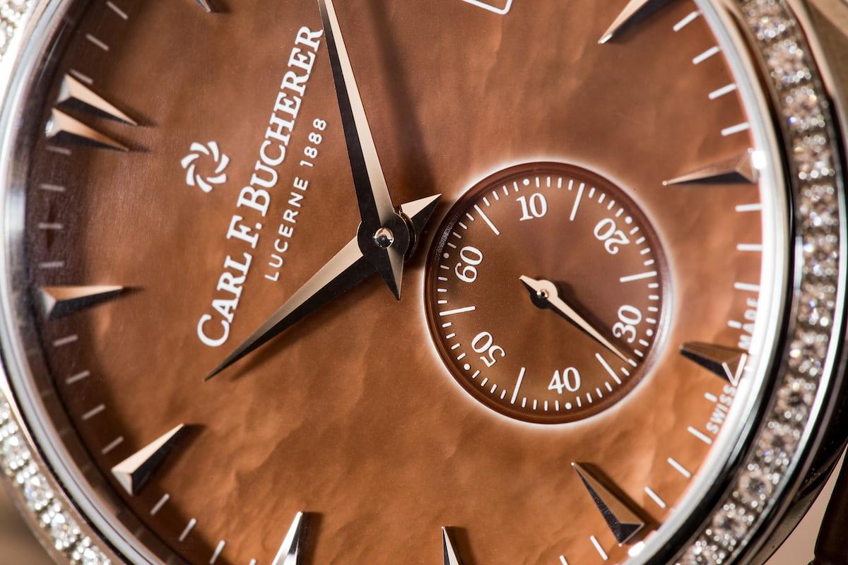 Carl F. Bucherer Manero Peripheral Ladies' dial closeup