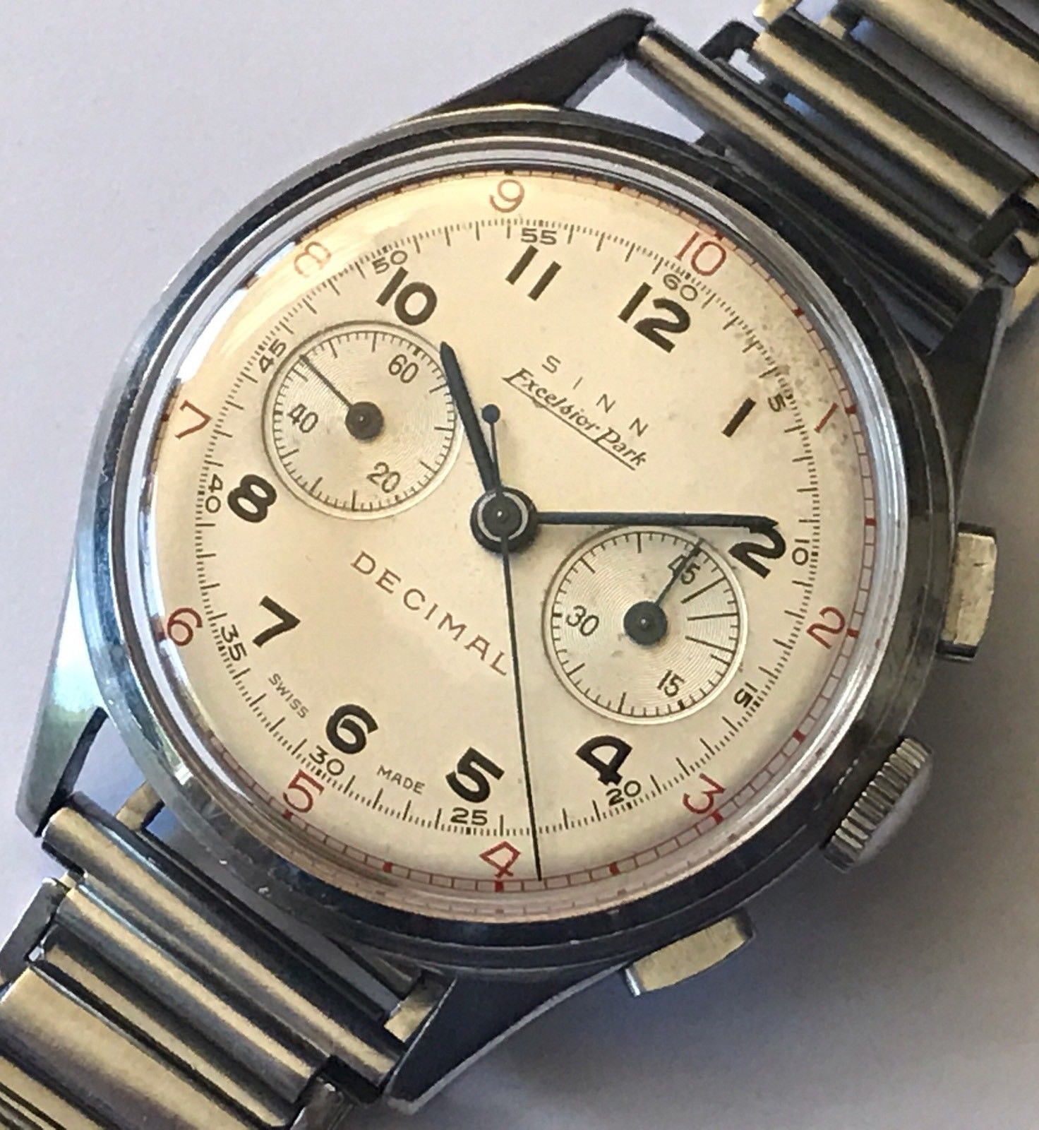 Excelsior Park Decimal Bring a Loupe: A Rolex 'Pre-Daytona' Reference 6234, A Double-Signed Excelsior Park Decimal, An Early Eterna KonTiki, And More Bring a Loupe: A Rolex 'Pre-Daytona' Reference 6234, A Double-Signed Excelsior Park Decimal, An Early Eterna KonTiki, And More EP dial