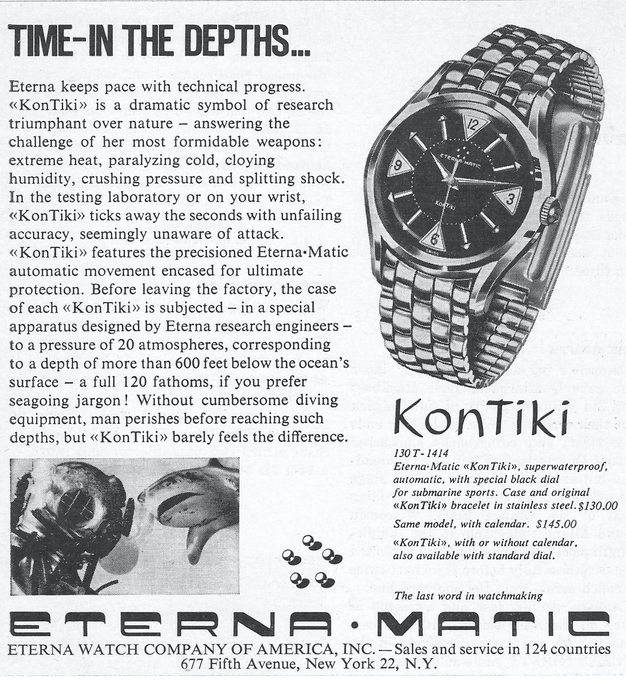 Eterna KonTiki advertising Bring a Loupe: A Rolex 'Pre-Daytona' Reference 6234, A Double-Signed Excelsior Park Decimal, An Early Eterna KonTiki, And More Bring a Loupe: A Rolex 'Pre-Daytona' Reference 6234, A Double-Signed Excelsior Park Decimal, An Early Eterna KonTiki, And More eterna matic kontiki watch 1