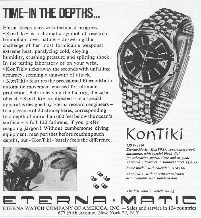 Eterna KonTiki advertising