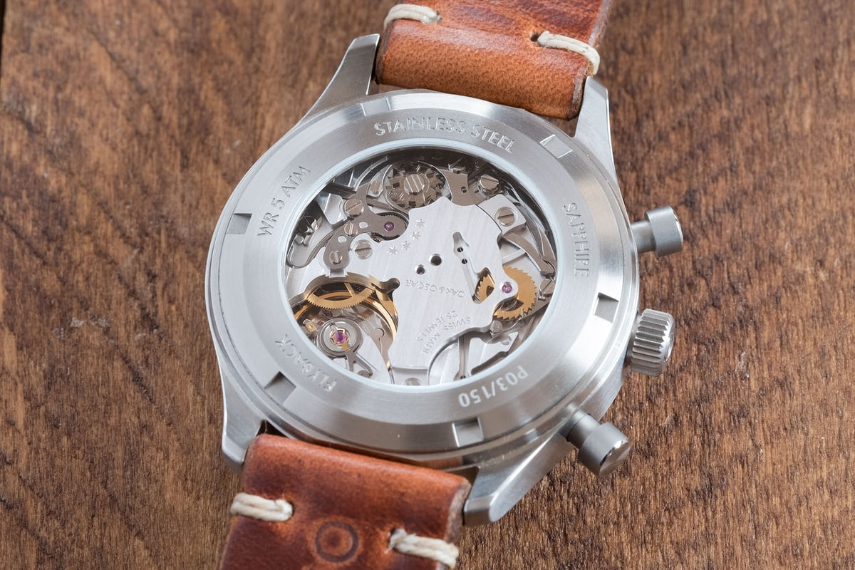 oak and oscar jackson flyback chronograph eterna movement