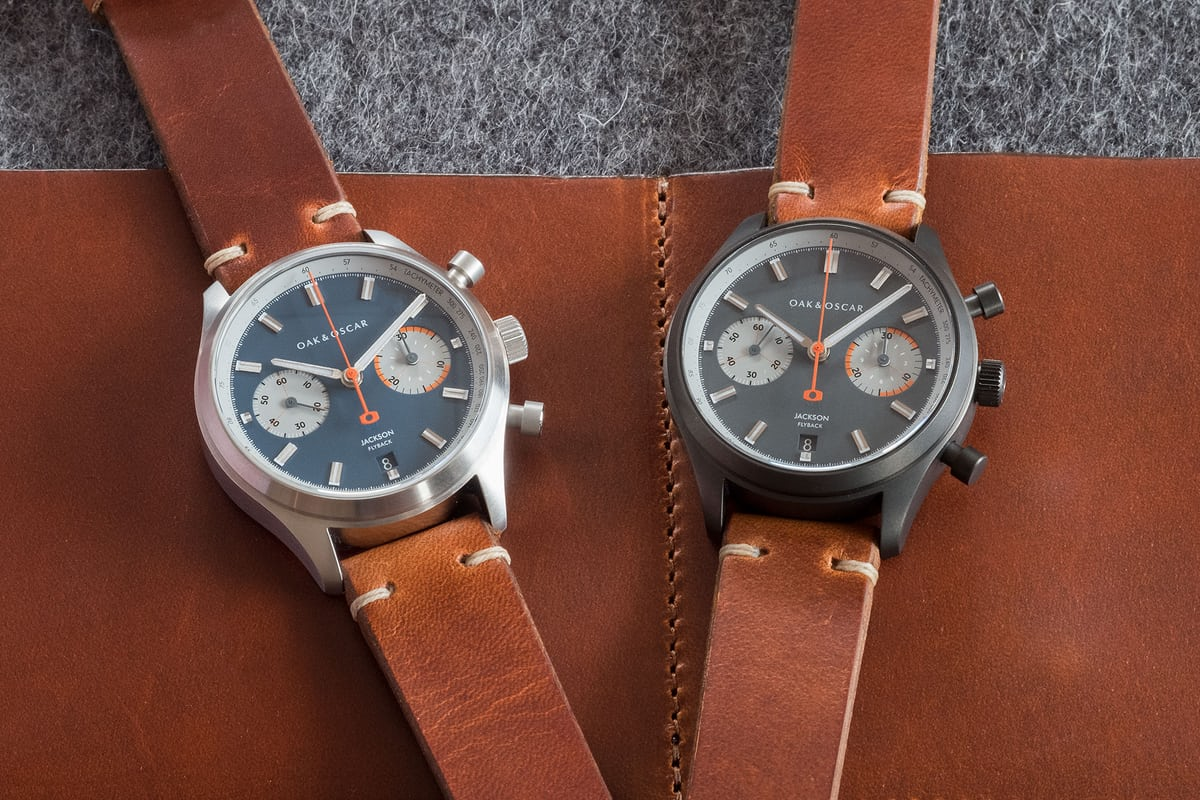 oak and oscar jackson flyback chronograph packaging