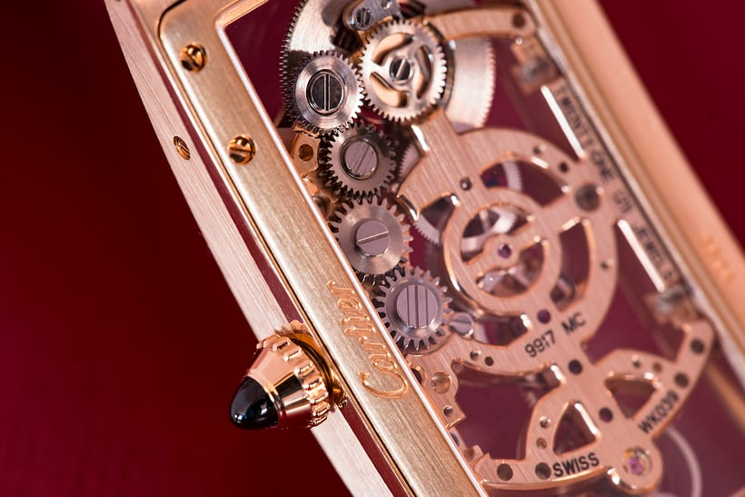keyless works cartier tank cintree skeleton
