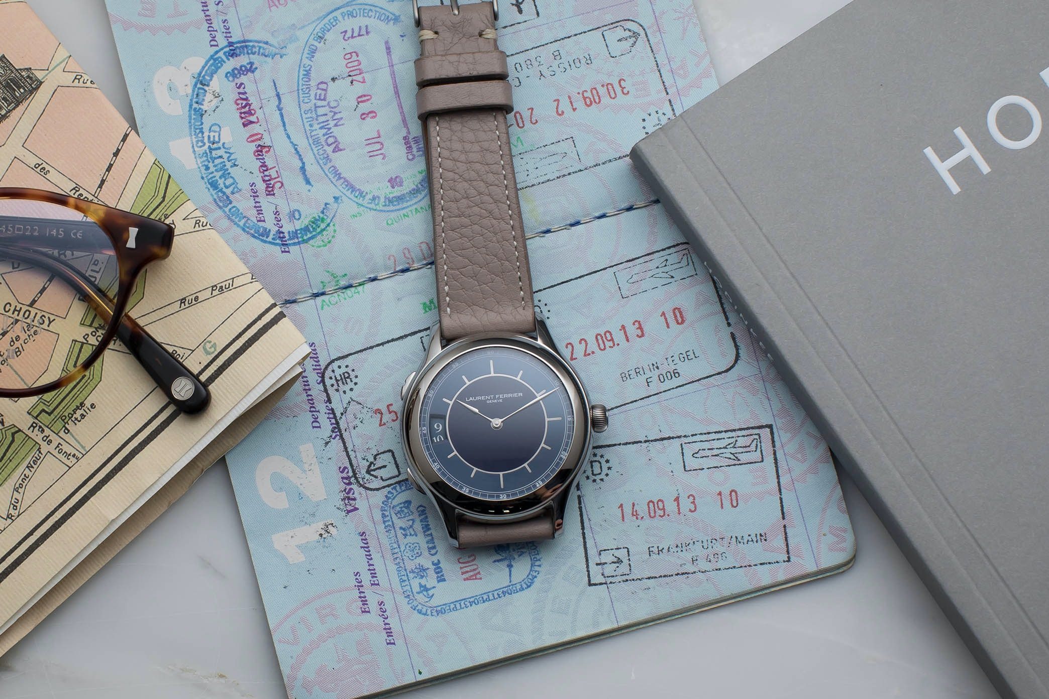 In The Shop: Introducing The Laurent Ferrier Traveller Limited Edition For HODINKEE hodinkee 052