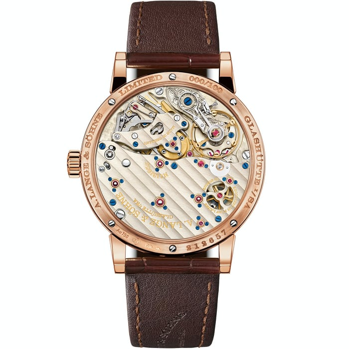 richard lange jumping seconds pink gold caseback