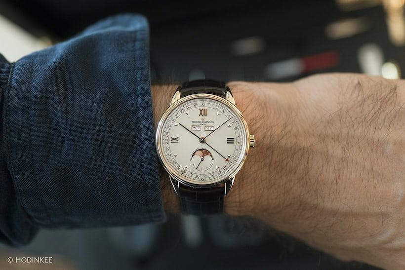 vacheron historiques 1948 red date numerals wrist shot