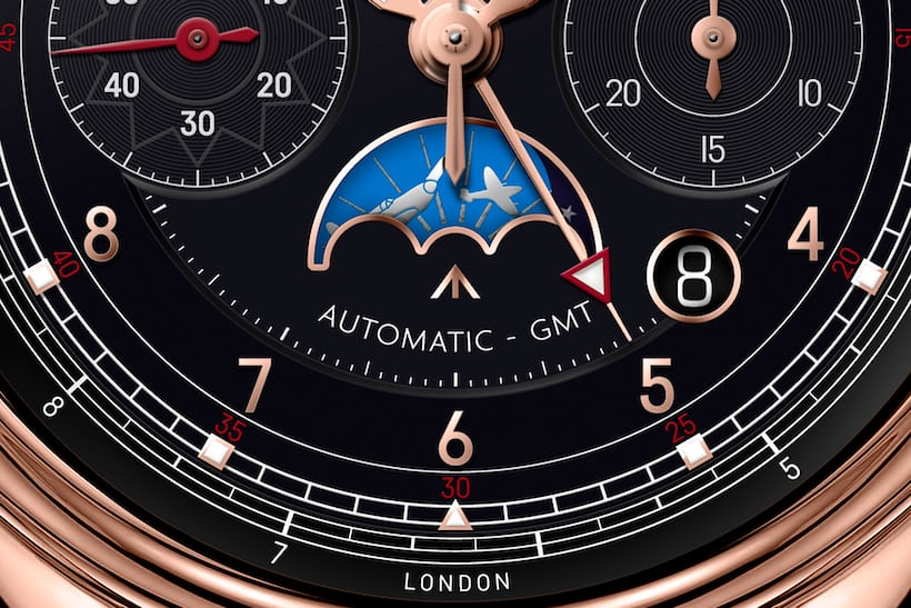 bremont 1918 limited edition dial detail