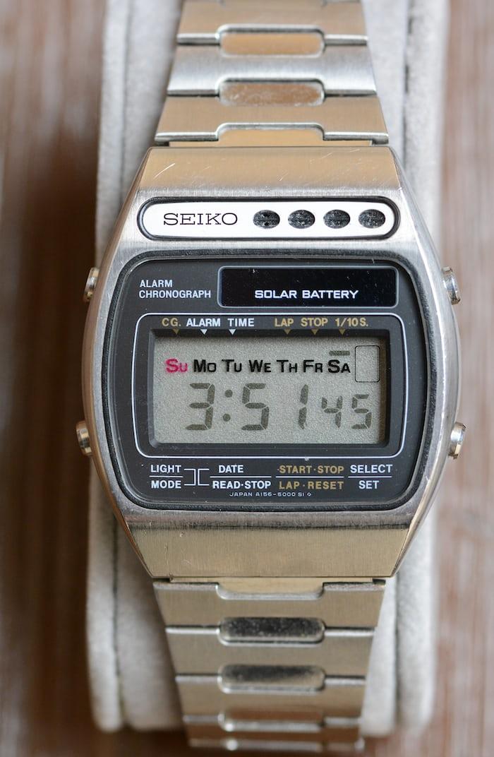 Seiko LCD alarm chronograph 1978