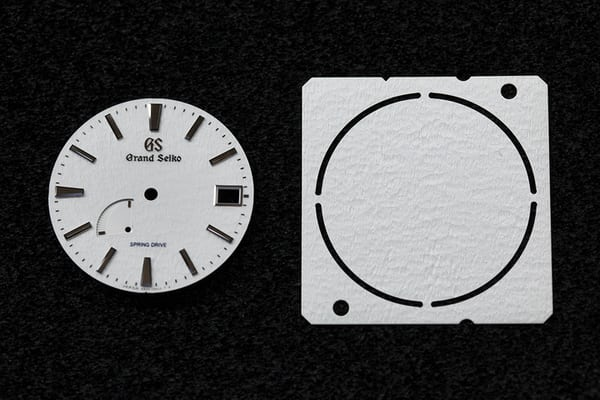spring drive snowflake dial blank and completed dial