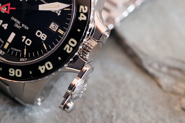 Ball Engineer Hydrocarbon AeroGMT II crown guard open position