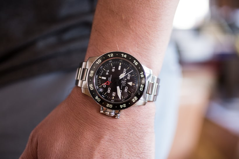 Ball Engineer Hydrocarbon AeroGMT II wrist shot