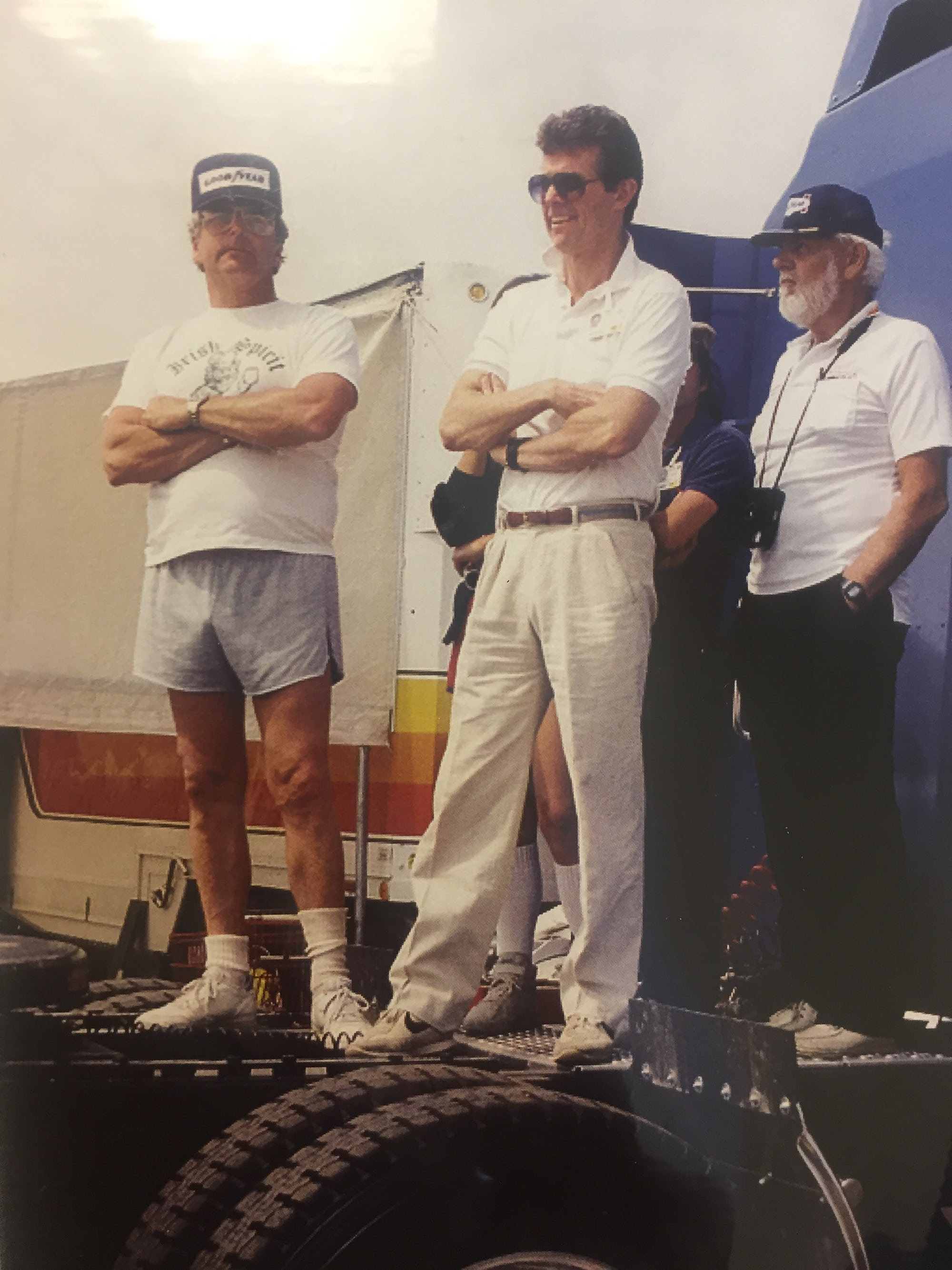 <p>Bruce J. Leven (left).</p>