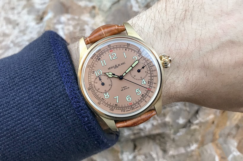 Montblanc 1858 Chronograph Tachymeter Limited Edition Salmon
