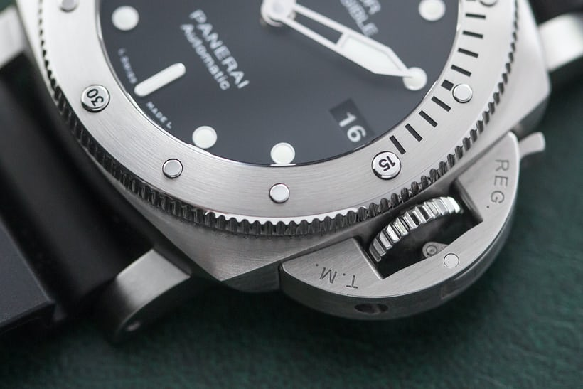 Panerai Luminor Submersible 1950 3 Days Automatic Acciaio 42mm crown
