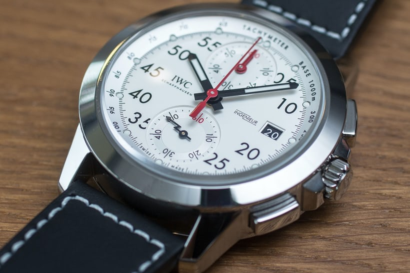 IWC Ingenieur Chronograph Sport Edition '50th Anniversary Of Mercedes-AMG' dial