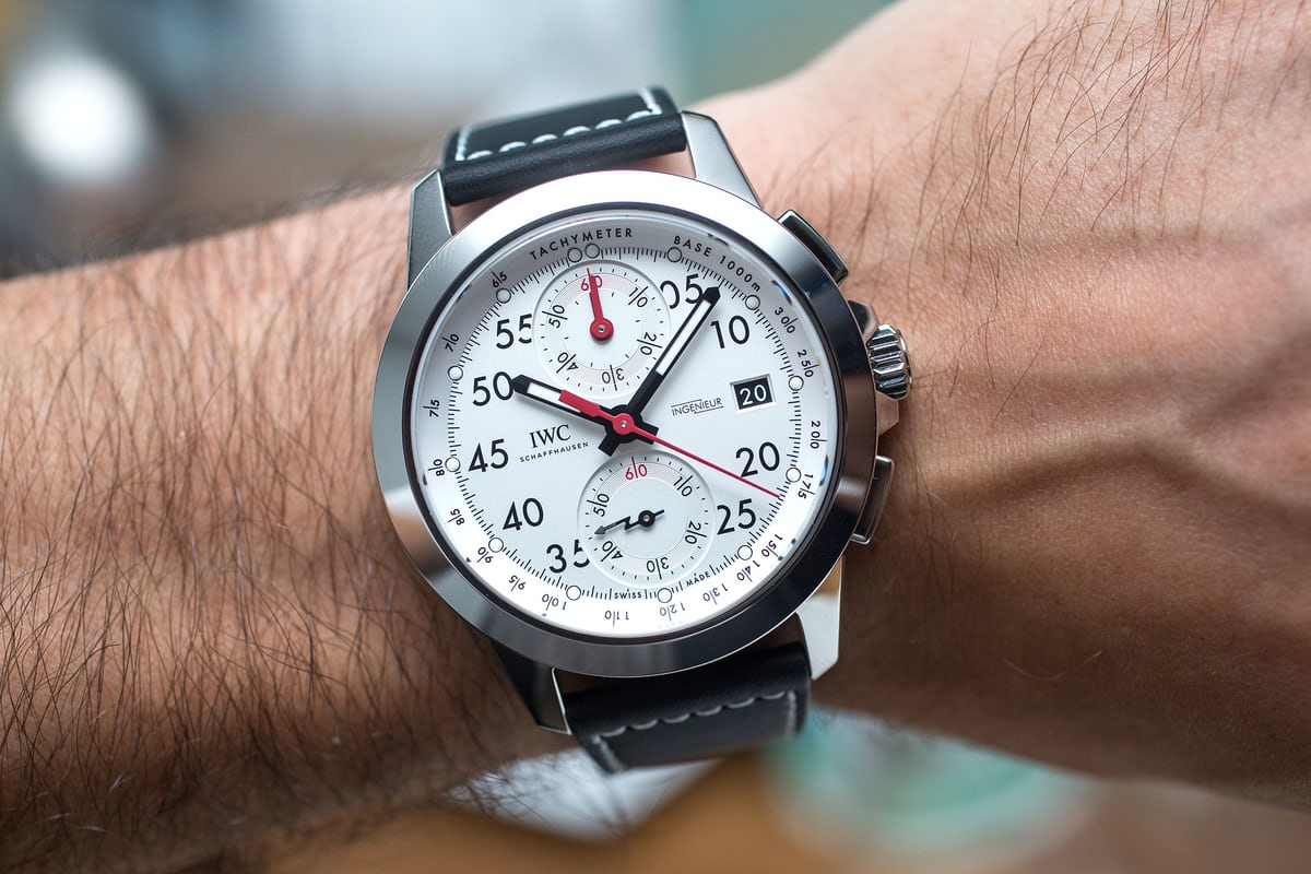 IWC Ingenieur Chronograph Sport Edition '50th Anniversary Of Mercedes-AMG' wristshot