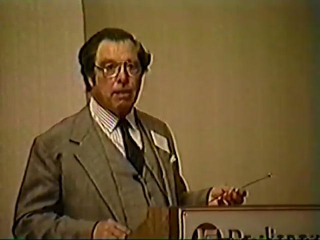 George Daniels lecture at AWCI, 1990