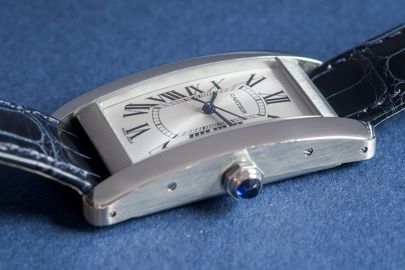 cartier tank americaine steel profile