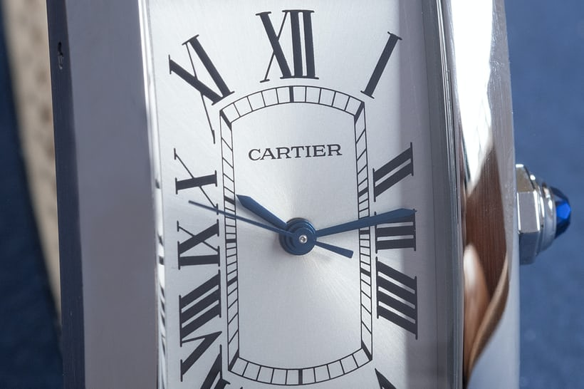 cartier tank americaine steel dial