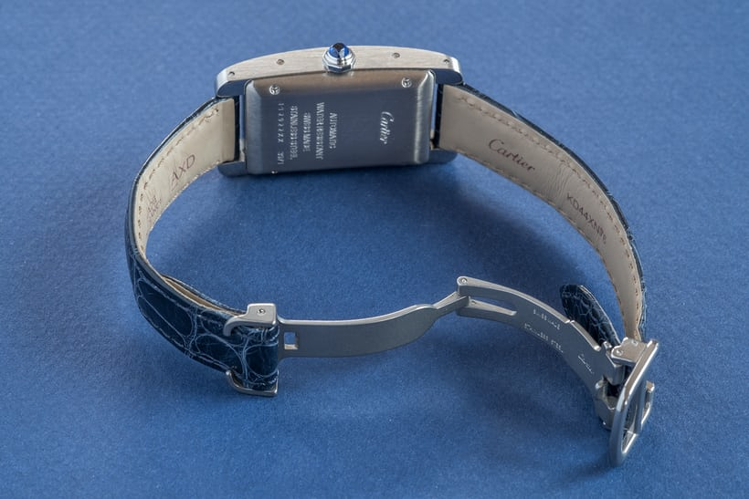 cartier tank americaine steel strap buckle
