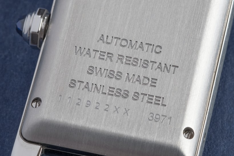 cartier tank americaine steel wristshot