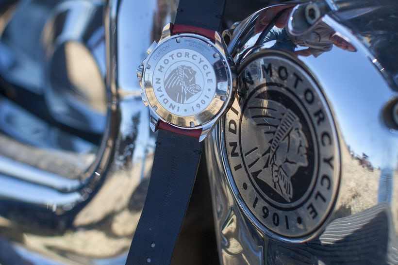 Case back of the Baume & Mercier Limited Edition Clifton Club Burt Munro