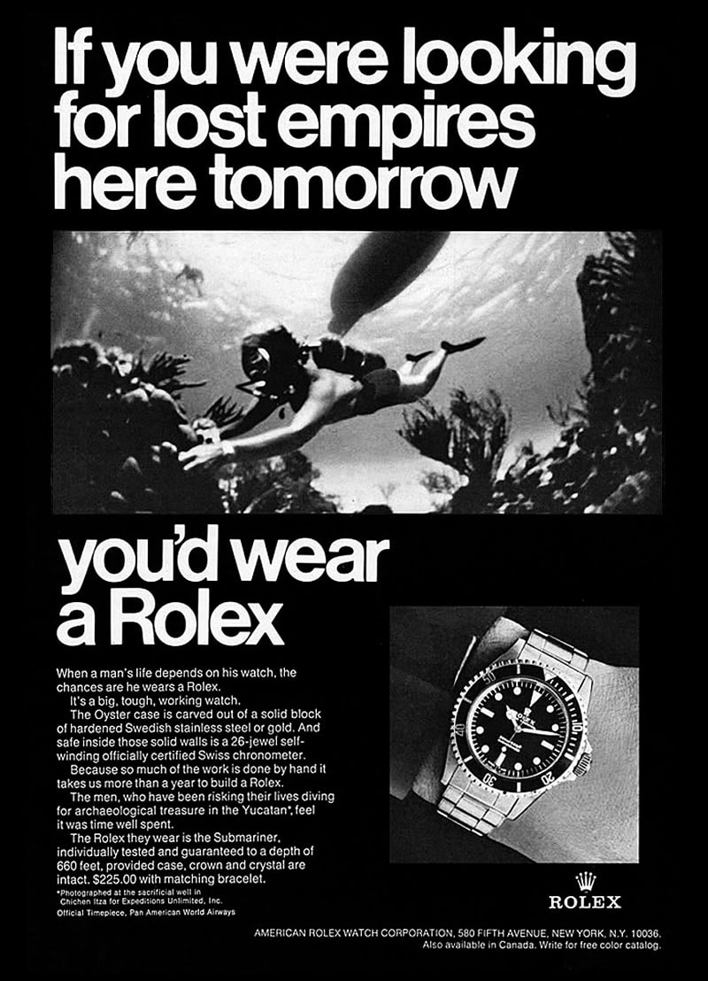 Reference Points: Understanding The Rolex Sea-Dweller Reference Points: Understanding The Rolex Sea-Dweller 1968 Rolex Submariner ad