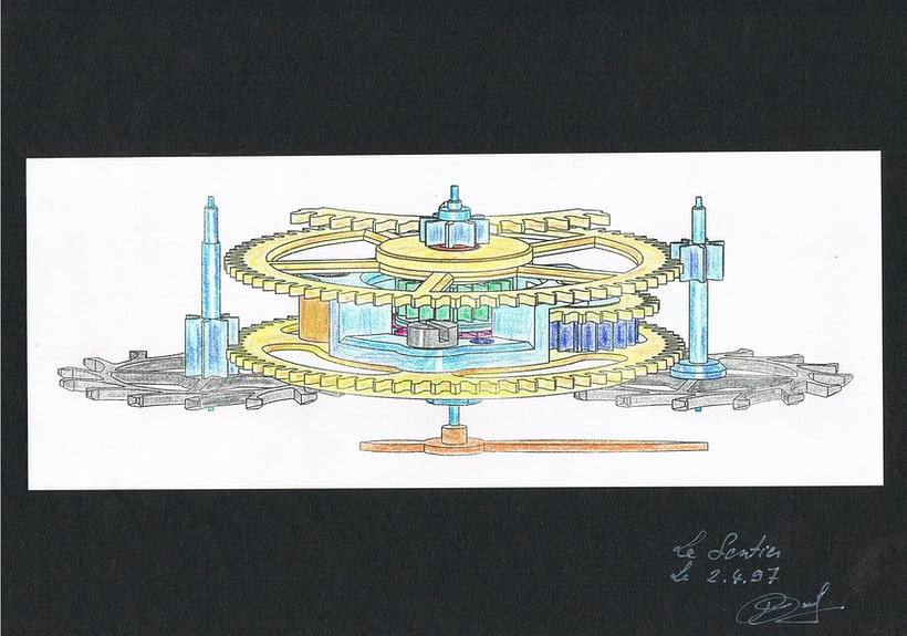 dufour duality differential, 1997 drawing