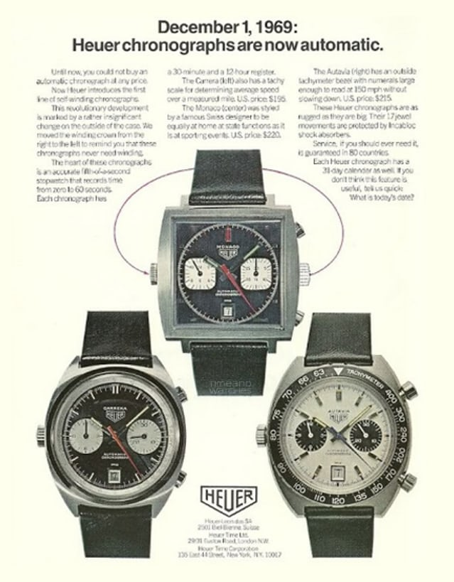 Heuer Automatic Chronographs