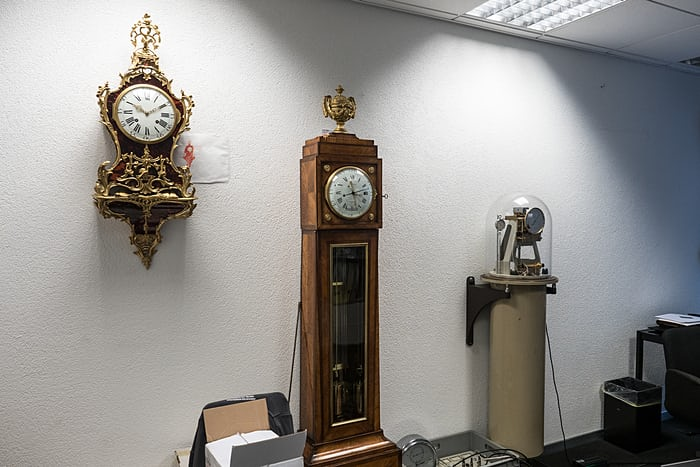 Ferdinand Berthoud and Riefler Type E pendulum clocks