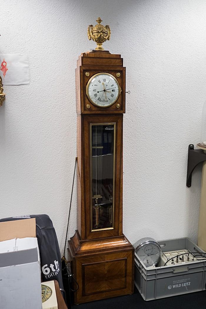 Berthoud longcase astronomical clock Urwerk Geneva