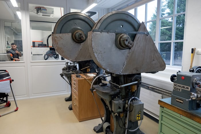 stamping machines at Montblanc Minerva in Villeret