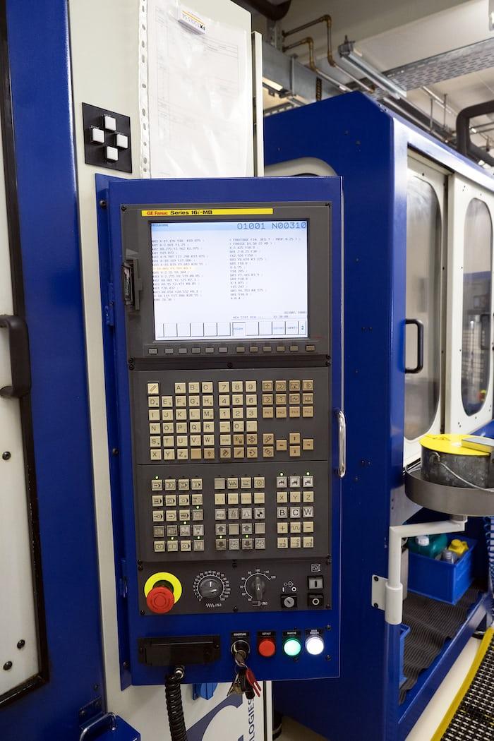 CNC machine control panel, Montblanc Minerva