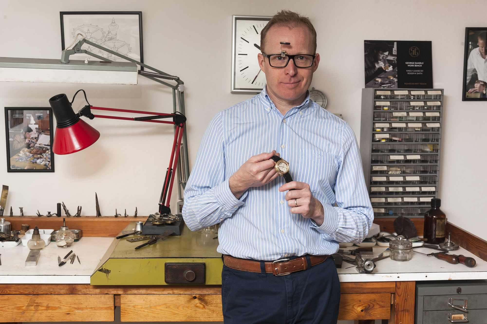 Roger W. Smith Happenings: Roger W. Smith To Lecture At The Horological Society Of New York (And Teach An Exclusive Class Too) Happenings: Roger W. Smith To Lecture At The Horological Society Of New York (And Teach An Exclusive Class Too) RogeratGeorgeDanielsBench Feb2017