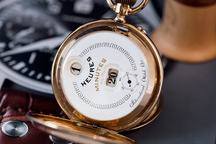 Pallweber pocket watch, late 18th century.
