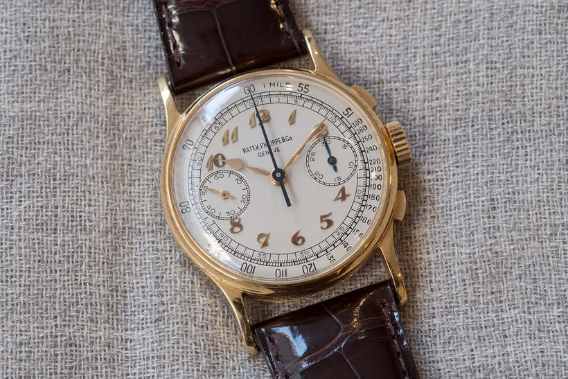 patek philippe 130 chronograph joe dimaggio christies