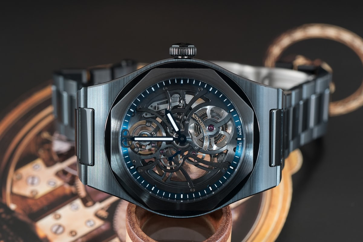 Laureato skeleton ceramic dial